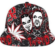 TWIZTID ELECTRIC RED MENS BLACK FLAT BILL CAP