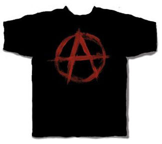 Anarchy Logo Mens Tee Shirt