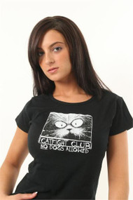 Fashion Victim Catfight Club No Dogs Allowed Juniors Tee Shirt