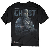 CALL OF DUTY MODERN WARFARE 2 GHOST MENS EXTRA LIGHTWEIGHT TEE SHIRT