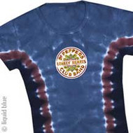 The Beatles Sgt. Peppers Lonely Hearts Club Band Tie Dye Juniors Tee Shirt