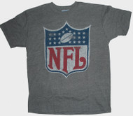 Junk Food Mens NFL Logo Vintage Distressed Tri Blend Tee Shirt
