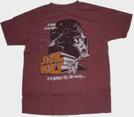 Mens Star Wars Darth Vader Galaxy Tee Shirt by Junk Food Clothing