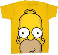 The Simpsons Huge Homer Face Mens Tee Shirt