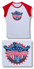 Ted Nugent Guitar Sleeveless Juniors Babydoll Tee Shirt