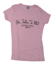 You Talkin' To Me Juniors Pink T-Shirt