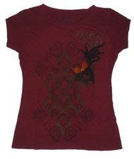 Burgundy Bird Juniors T-Shirt
