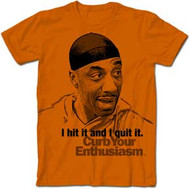 Curb Your Enthusiasm Leon I Hit it and I Quit It Mens Tee Shirt