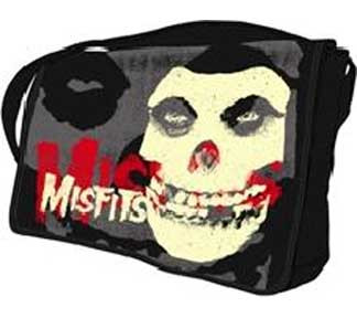 MISFITS BIG SKULL SUBLIMATION PRINT MESSENGER BAG