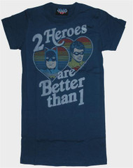 Junk Food Batman and Robin 2 Heroes Girly T-Shirt
