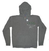 Junk Food NFL Philadelphia Eagles Vintage Distressed Overdye Womens Zip Up Hoodie