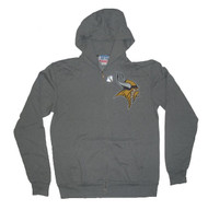 Junk Food Mens NFL Minnesota Vikings Vintage DIstressed Zip Up Hoodie