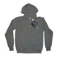 Junk Food Mens NFL Philadelphia Eagles Vintage DIstressed Zip Up Hoodie