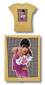 Lily Allen Black Dots 30 SIngles Junior Baby Doll Tee Shirt