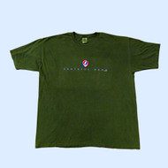 Grateful Dead Linear Steal Your Face Garment Dyed Forrest Green Mens T Shirt