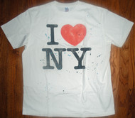I Heart NY Splatter Mens Tee Shirt by Junk Food Clothing