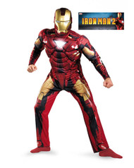 Mens Muscle Iron Man Mark VI Costume