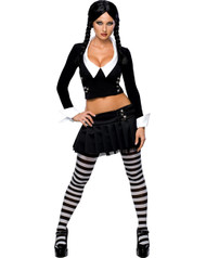 The Addams Family Sexy Wednesday Womens Costume