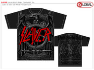 Slayer Jumbo Black Eagle Pentagram Mens Tee Shirt