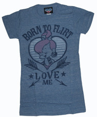 The Flintstones Pebbles Born to Flirt Womens T Shirt by Junk Food Clothing