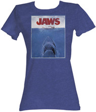 Jaws Vintage Poster Juniors T Shirt