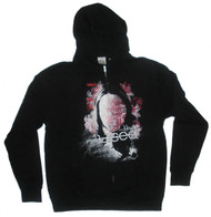 The Used Face and Flowers Mens Hoodie