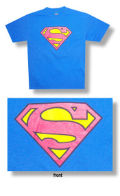Superman Classic Logo Mens Tee Shirt