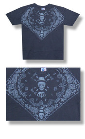 Mens Ice T Skull Tee Shirt in Black Wash by Junk Food Clothing