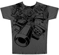 Transformers Autobot Charge Vintage Style Mens Tee Shirt in Military Green