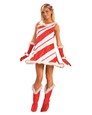 Womens Candy Cane Costume