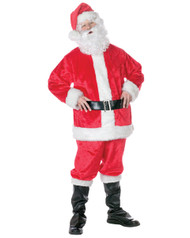 Adult Deluxe Santa Suit with Beard and Wig Costume
