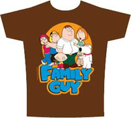 The Family Guy Group Faded Mens Tee Shirt