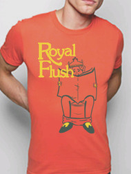 Crooked Monkey Royal Flush Mens Vintage Style Tee Shirt