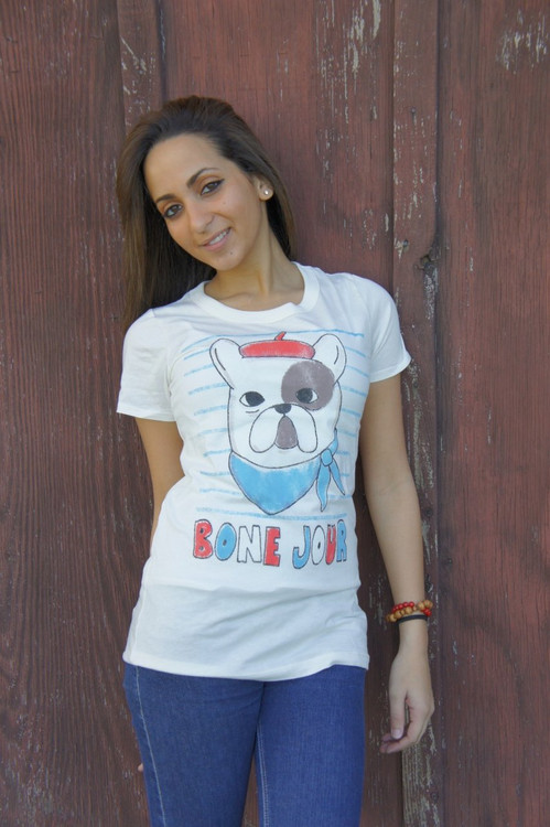 Bone Jour Womens Tee Shirt by Junk Food Clothing