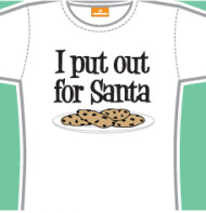 I Put Out For Santa Juniors Tee Shirt