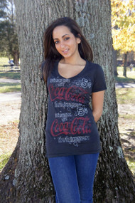 French Coca Cola Womens T Shirt by Junk Food Clothing