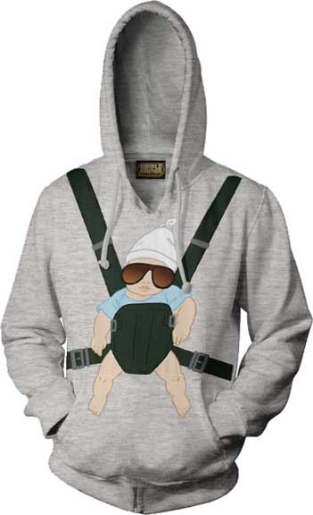 The Hangover Baby Carrier Adult Hoodie