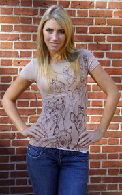 Disney Bambi All Over Juniors Vintage Style Tee Shirt