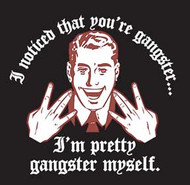 Gangster Retro Mens Tee Shirt