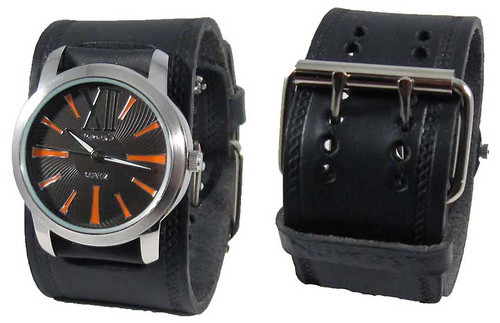 Nemesis Black Retro Sports Cuff Watch
