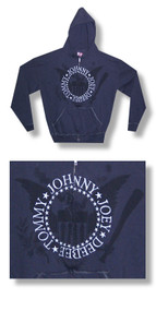 The Ramones Seal With Embroidered Names Zip Up SWAG Hoodie