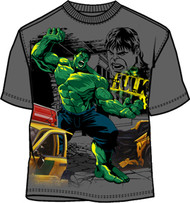 Marvel Comics The Hulk in Charcoal Boys Tee Shirt