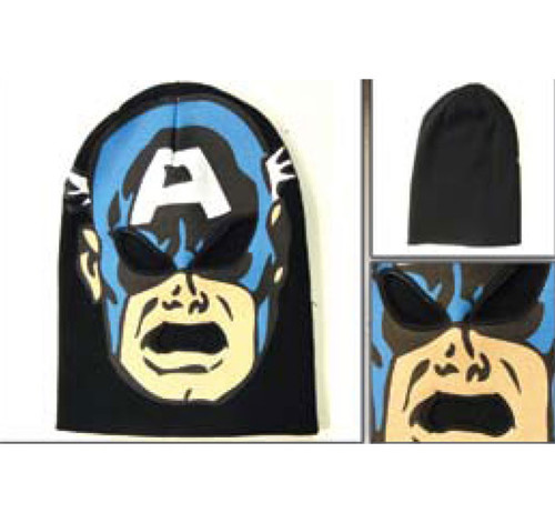 Captain America Mens Black Ski Mask