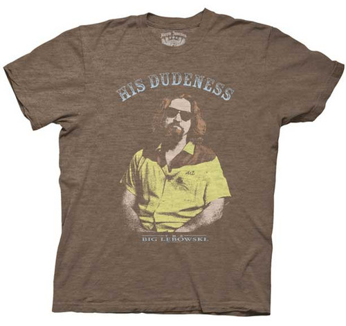 The Big Lebowski His Dudeness Mens Tee Shirt