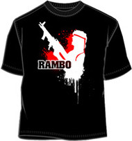 Rambo In Action Mens Tee Shirt