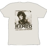 Rambo They Drew First Blood Mens Tee Shirt