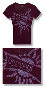 Godsmack Power Hour 30/1 Burn Out Junior Baby Doll Tee Shirt
