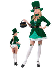 Sexy Adult Luscious Leprechan Costume