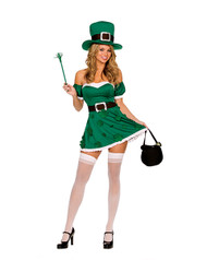Sexy Spank Me I'm Irish Costume Adult