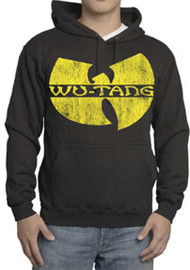 Wu Tang Clan Distressed Logo Mens Hoodie
